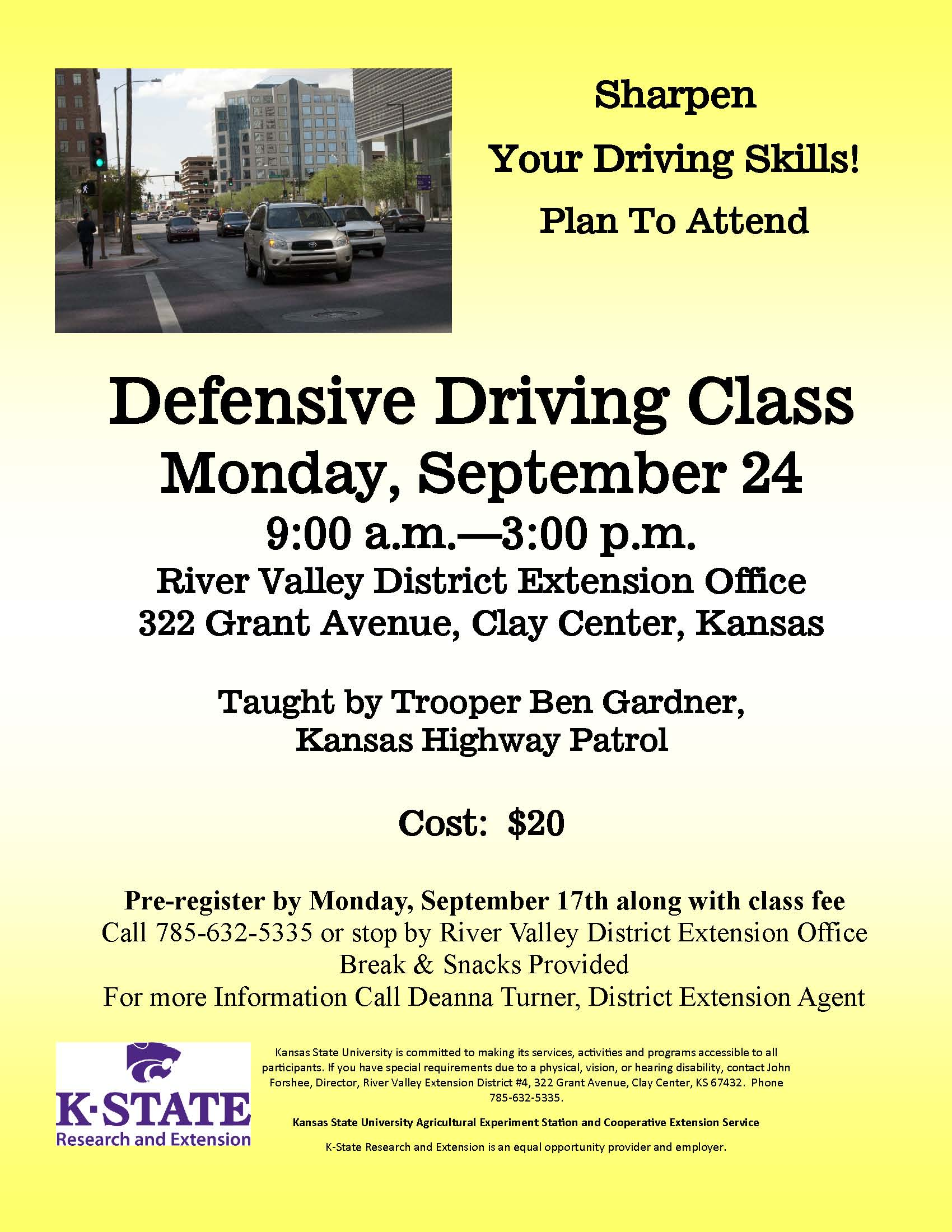 2018 - Defensive Driving Flyer