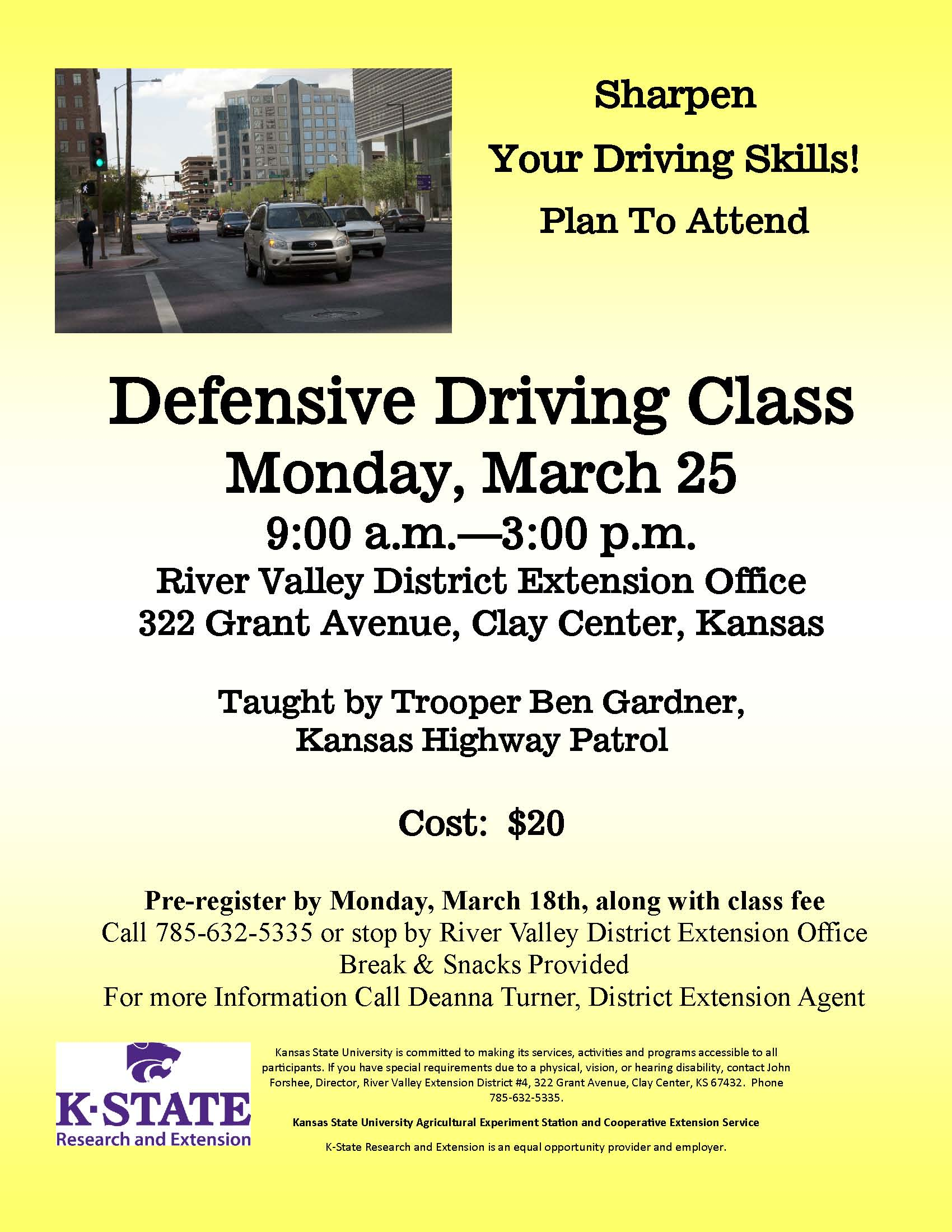 2019 Defensive Driving Flyer
