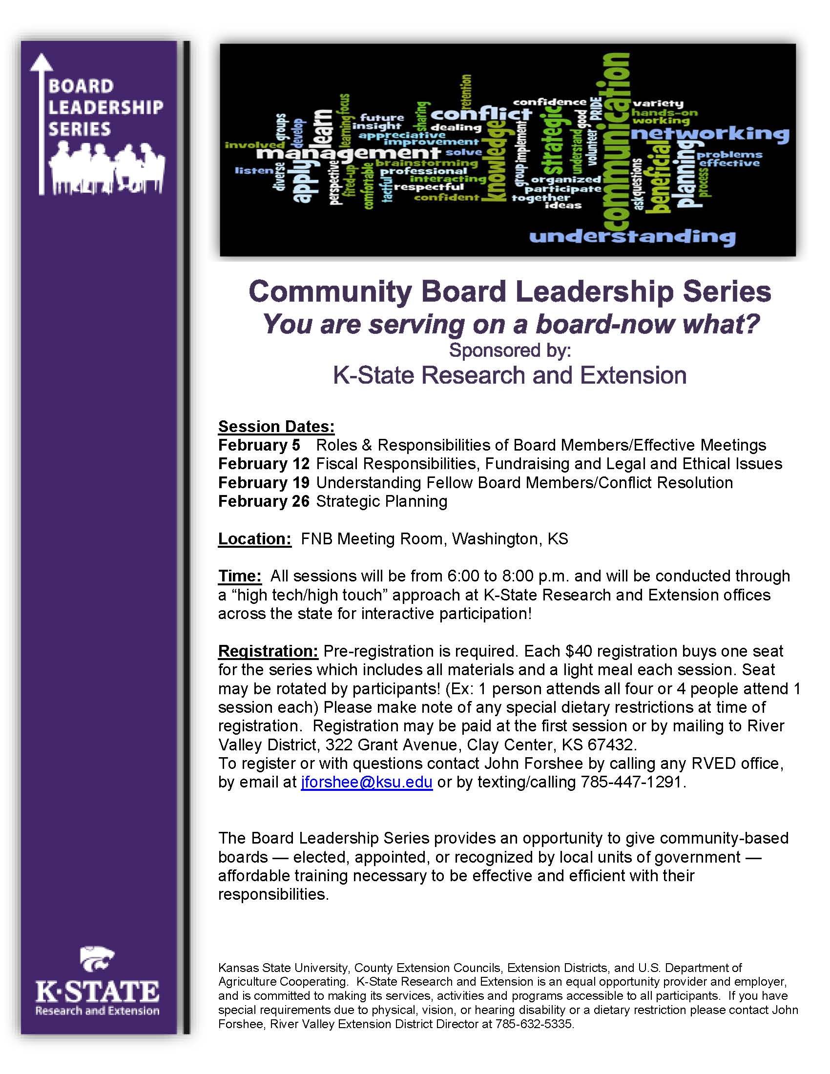 2019 Board Leadership Series Flyer