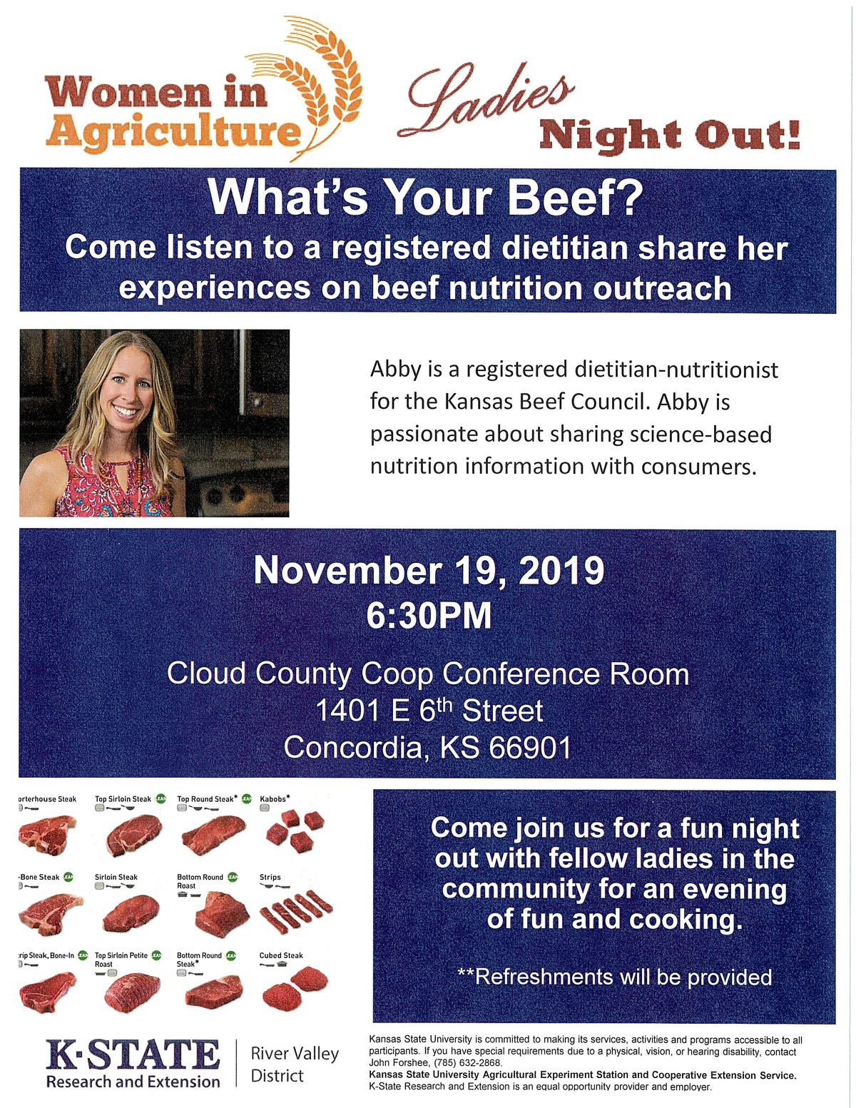 2019 Ladies Night Out What's Your Beef Flyer